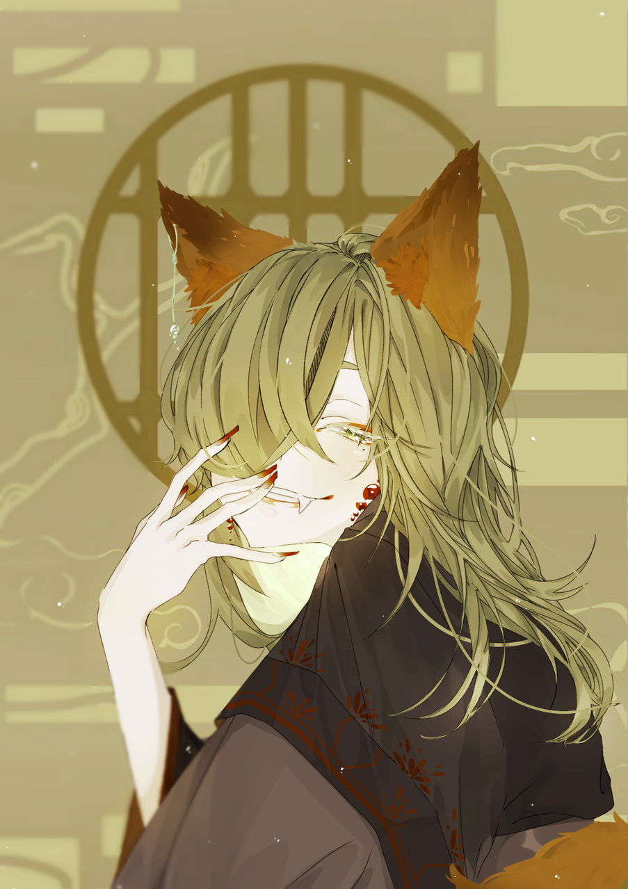 Fox Illust of Ponta fox 여우요괴 동양풍 animal_ears