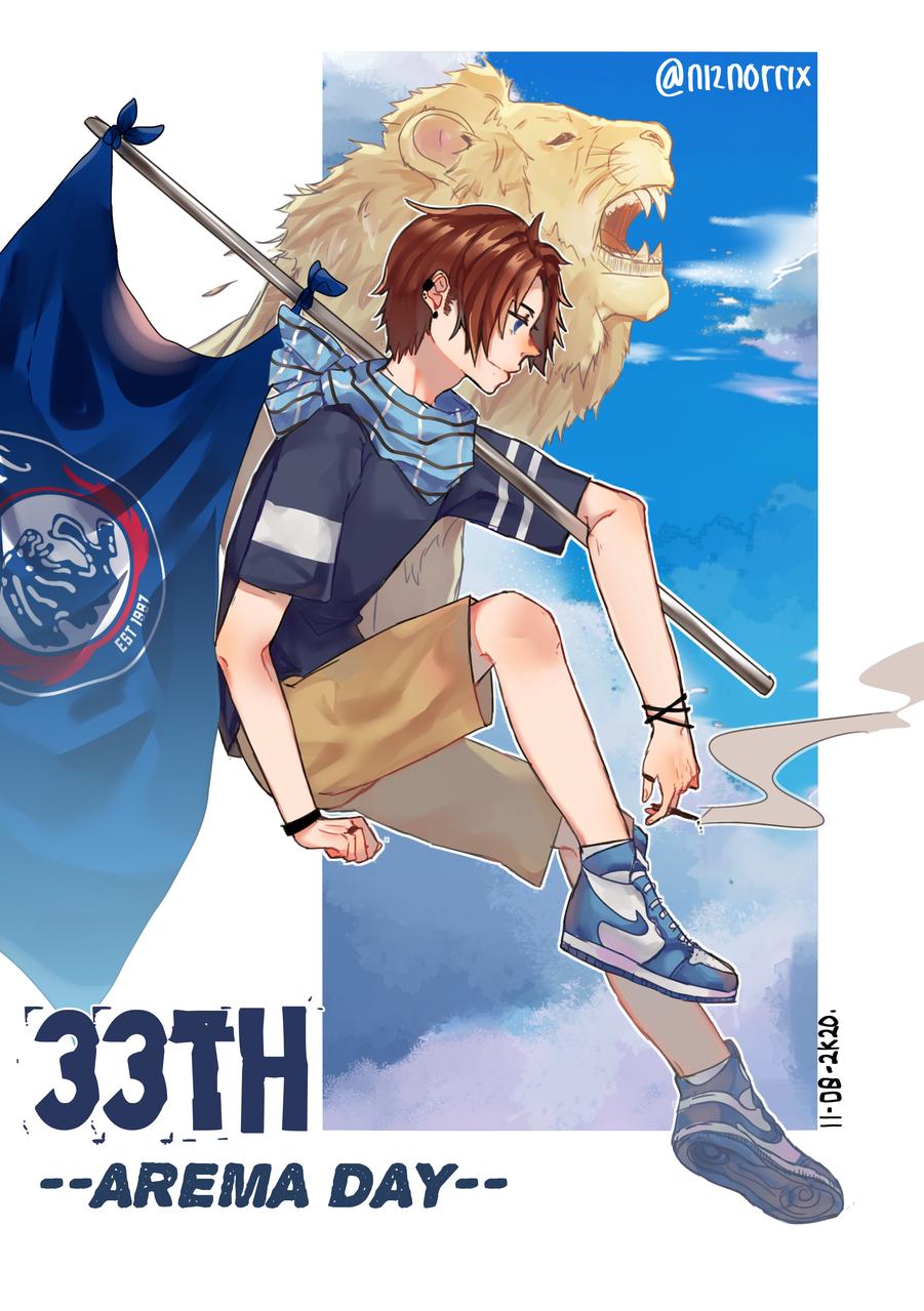 Arema Day Illust of Norrix medibangpaint animeboy blue ilustration