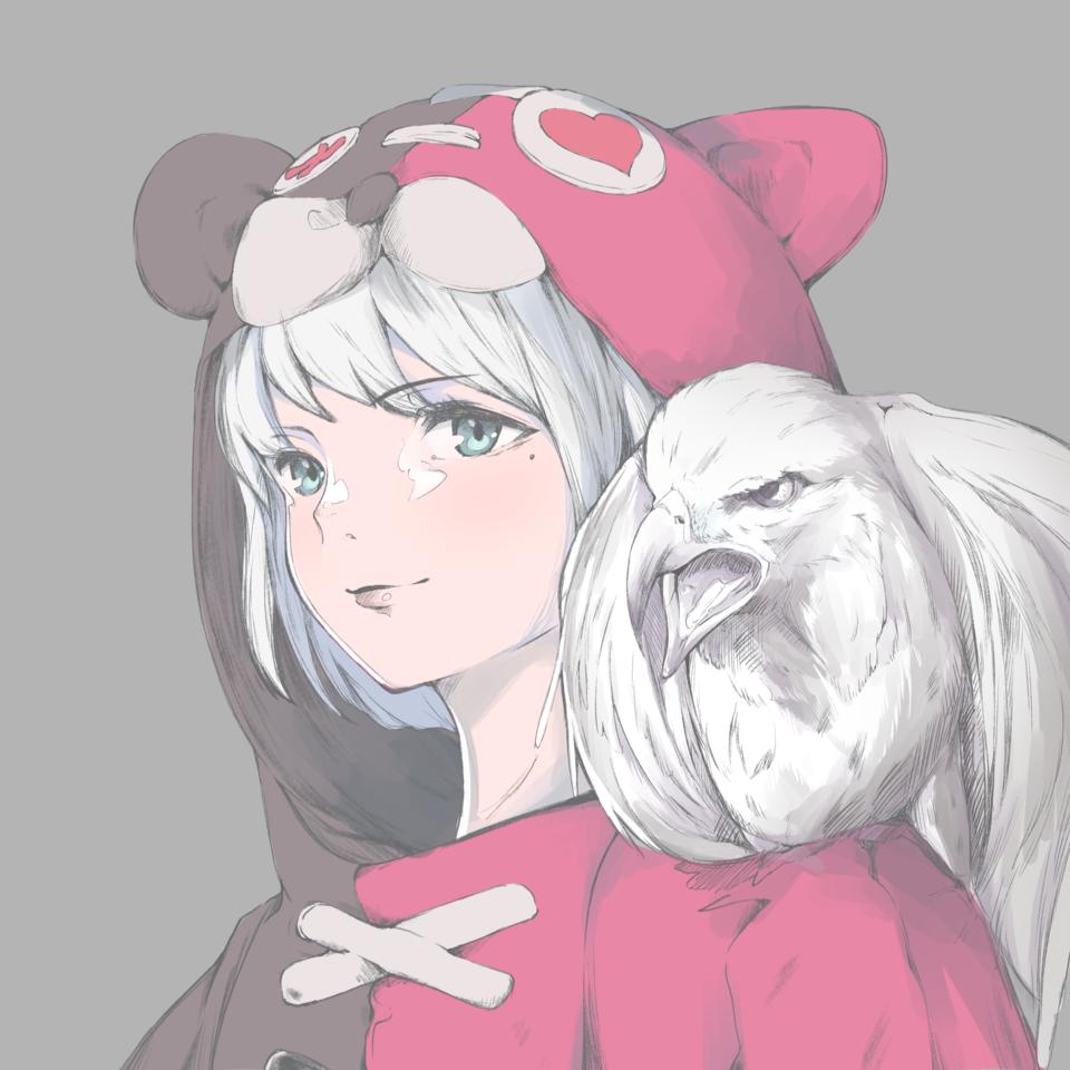 鷹ガール Illust of 馬(UMA) original girl oc おんなのこ illustration Illustrations イラストレーション
