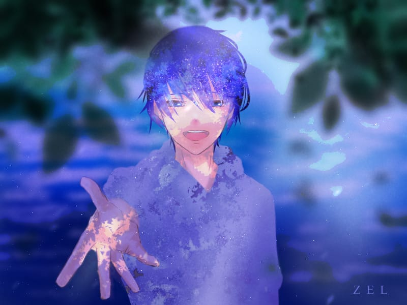 Let's start a Brand new story! Illust of Ezeel oc Brandnewtsory illustration Zel animestyle digitalpainting digital Treeshade animeboy Artwork