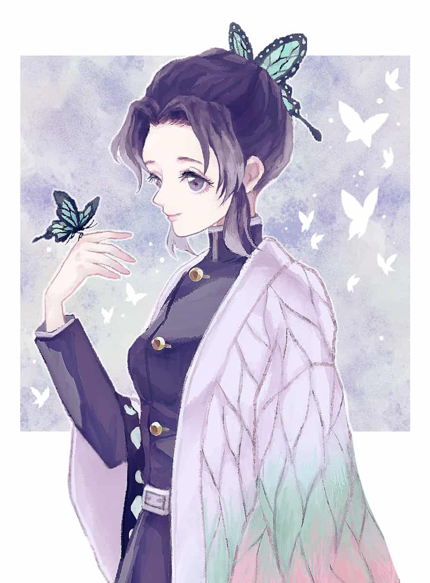 蟲柱 Illust of ツユキサヤ KochouShinobu fanfic KimetsunoYaiba