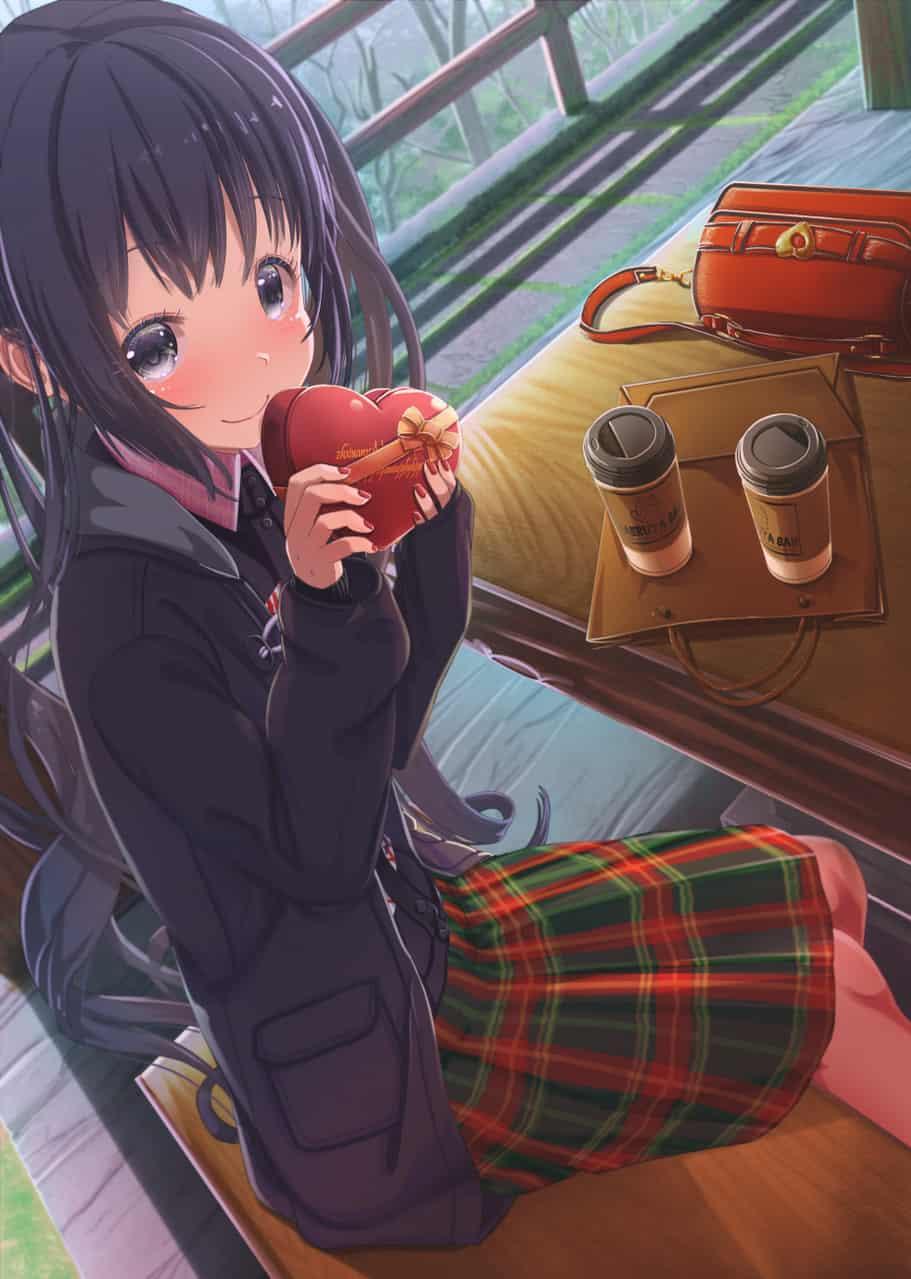 コーヒーとチョコ Illust of あいうあぼ Valentine girl original
