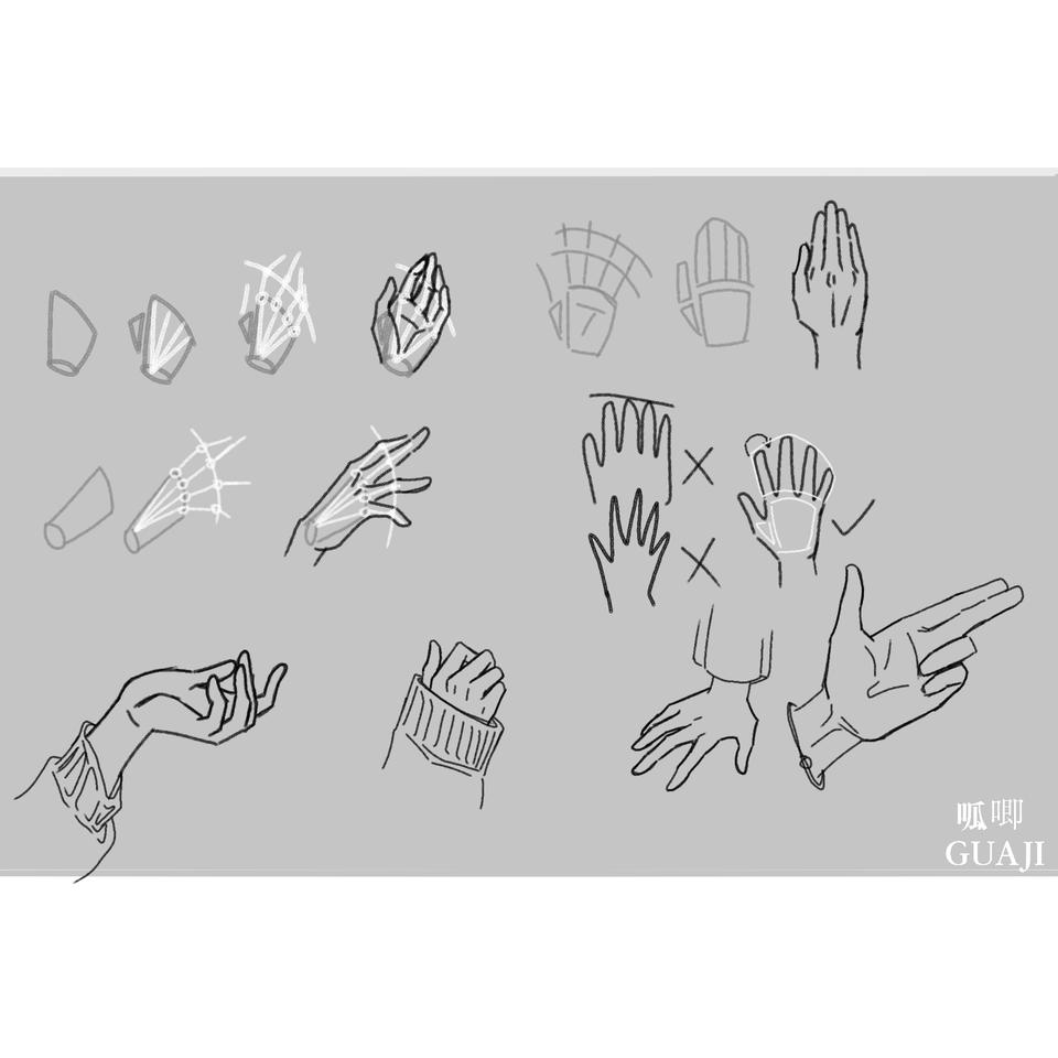 爪子第三弹 Illust of Eoin_呱唧 medibangpaint hand line_art 教程 手部练习