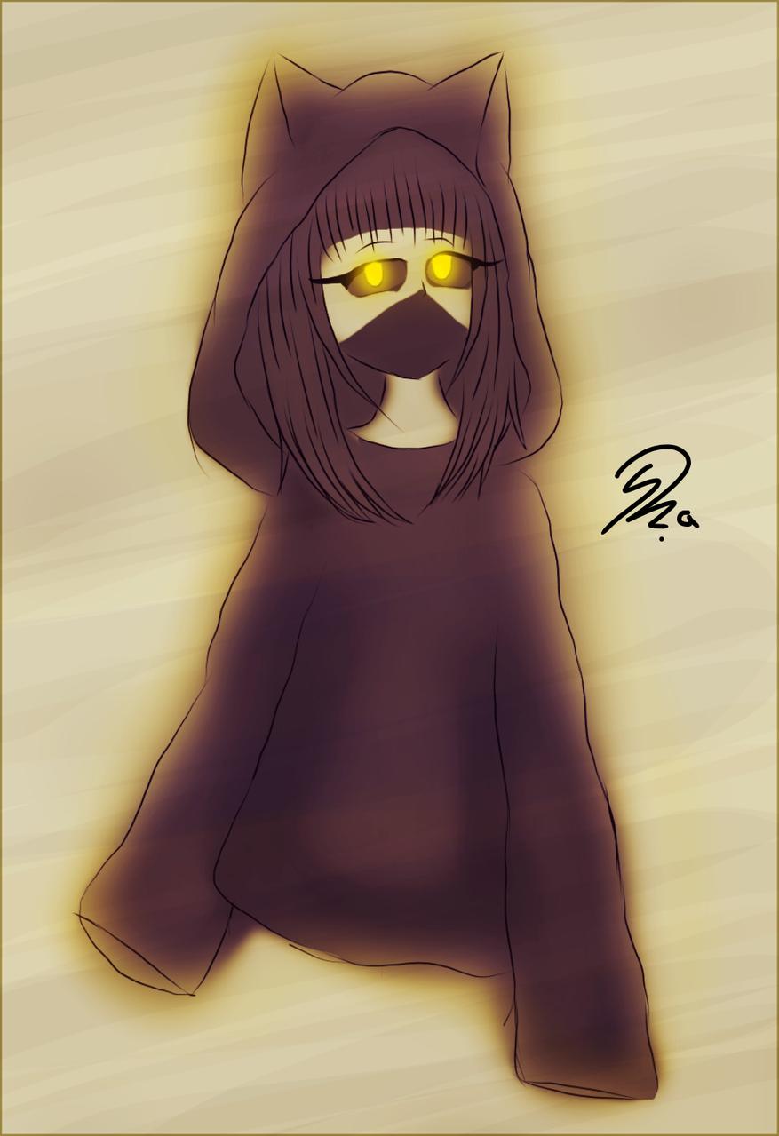 Hoodie Illust of Ph@nt0m August2020_Contest:Horror medibangpaint cat black hoodie