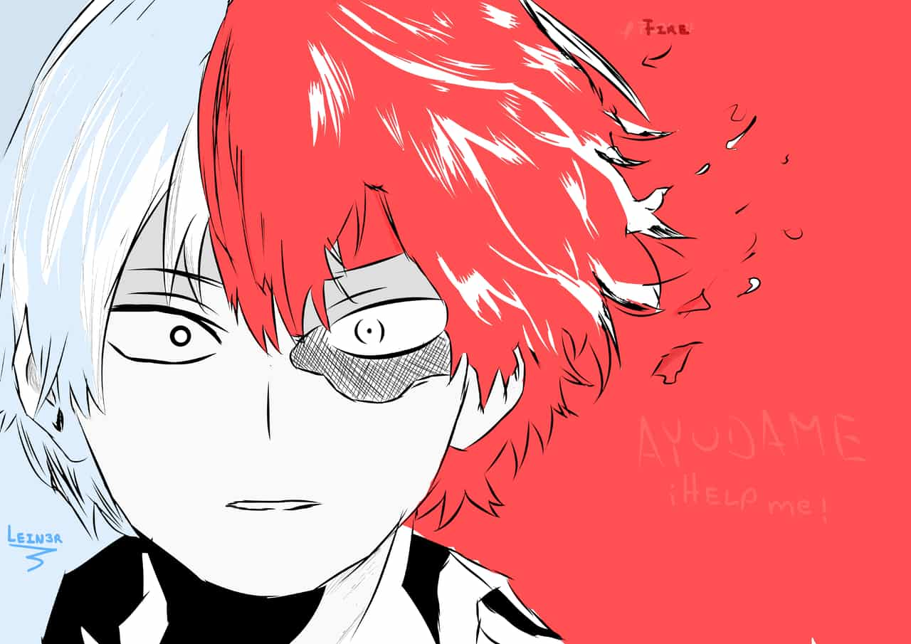 Todoroki (轟焦凍) - My Hero Academy Illust of LRahier red ice Shoto_Todoroki MyHeroAcademia color boy prettyboy fire