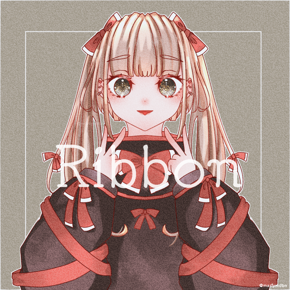 Ribbon Illust of Marfy girl メルヘン ribbon ロリータ twin_ponytails kawaii
