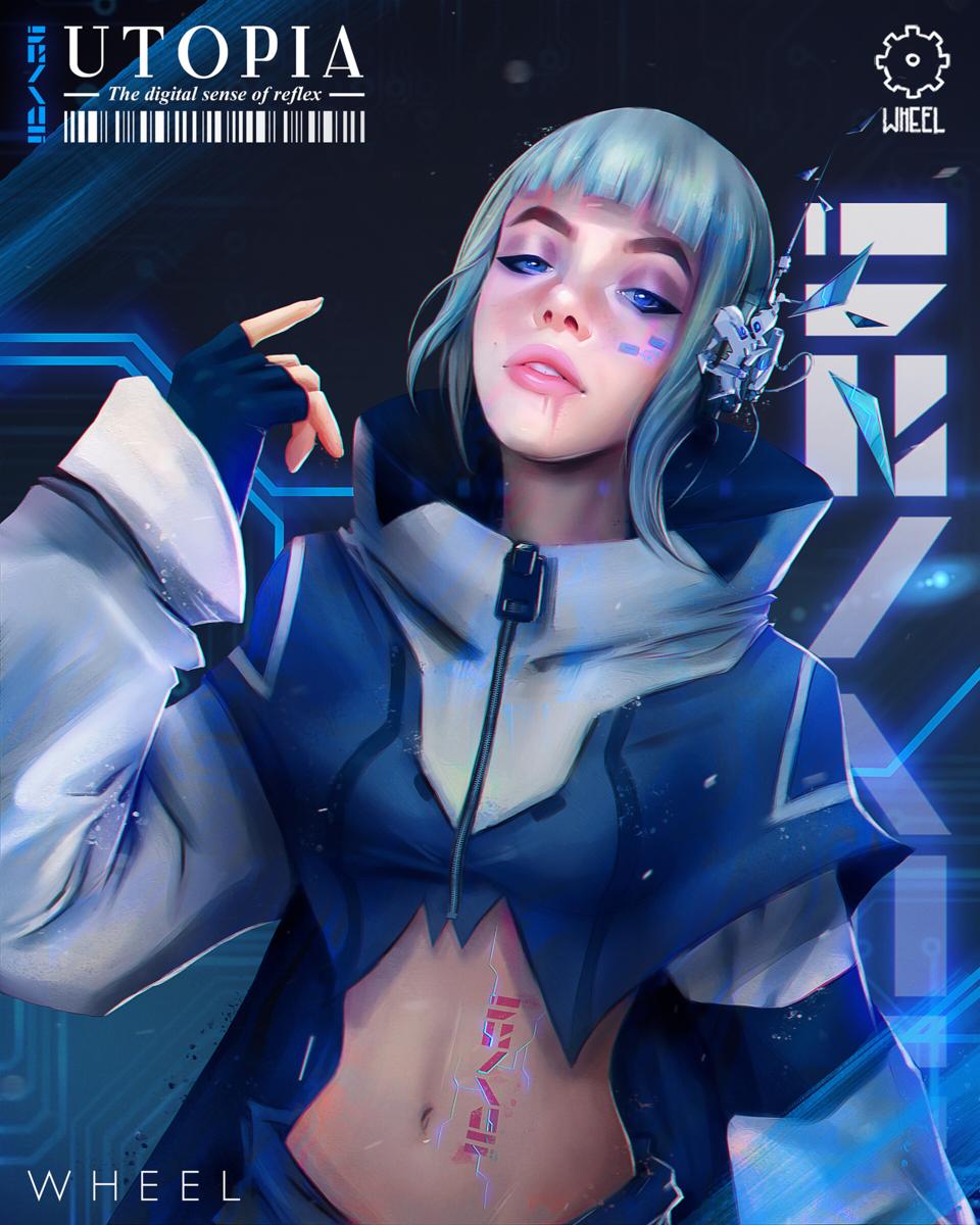 UTOPIA Illust of benjawheel November2020_Contest:Cyberpunk cyberpunkgirl, characterdesign wheel, digitalart, cyberpunk,