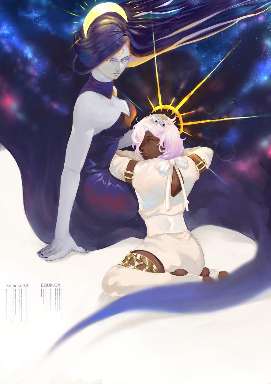 EQUINOX Illust of K28 fantasy February2021_Fantasy and equinox day night