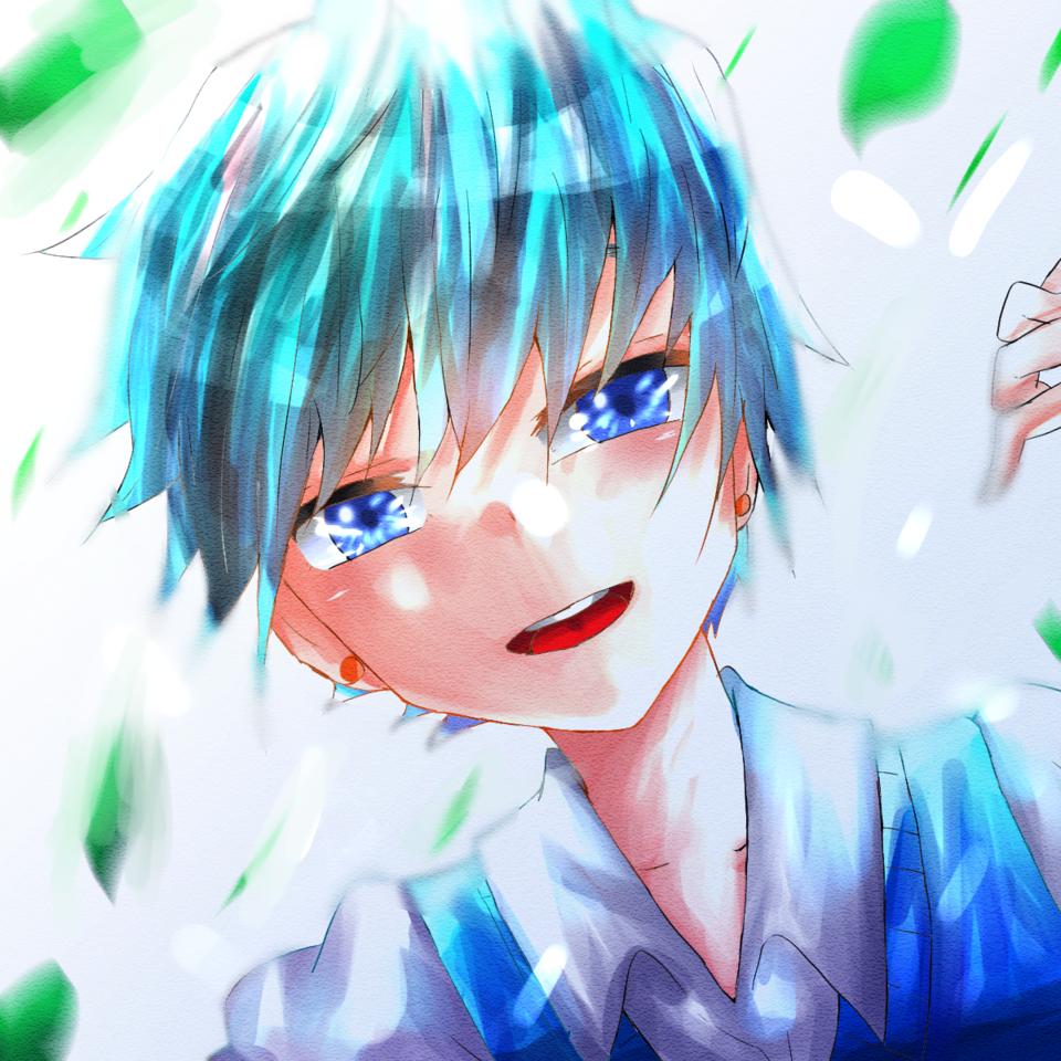 あお Illust of お茶湯 boy blue original