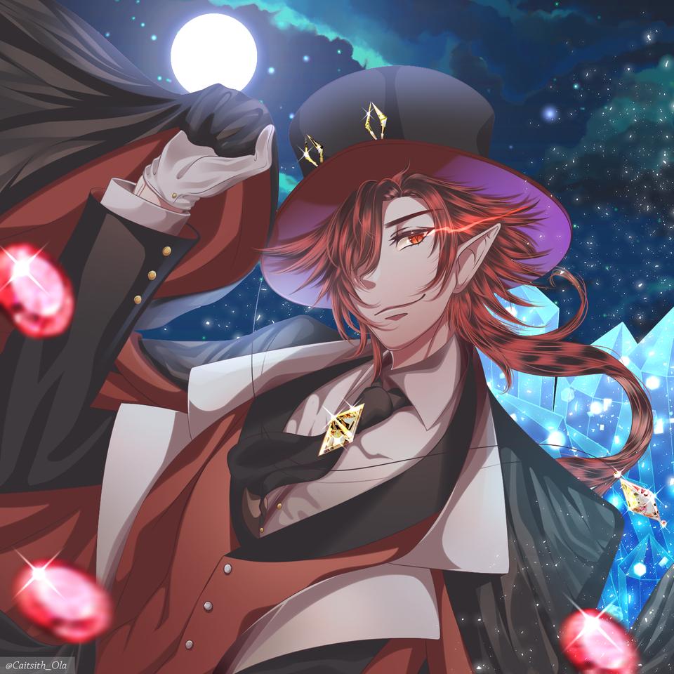 Magician of the night Illust of Caitsith oc illustration draconian dragon Caitsith