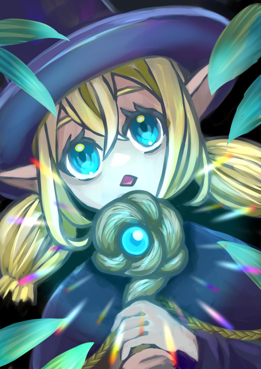 Forest witch Illust of YANAGI February2021_Fantasy oc girl 魔法使い medibangpaint