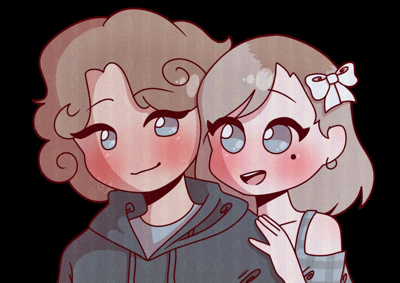 ~desc~ Illust of BushBabyOrigins medibangpaint soft aesthetic cute persona redraw couple picrew sona ship pastel