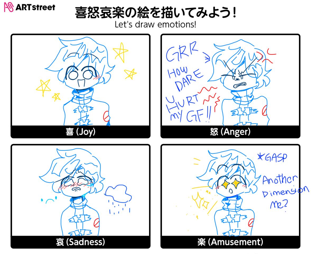 Wooooooo!!! let's draw Emotions! Illust of Weird Kiddo :> medibangpaint bf WeirdK fnf emotions AnotherAu iChallenge