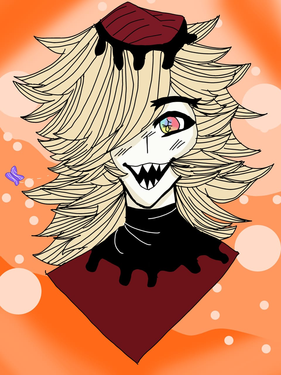 (Redraw) Drawing Doma in my style ! Illust of ~*ÄñïmêQµêêñÚwÚ*~ KimetsunoYaiba