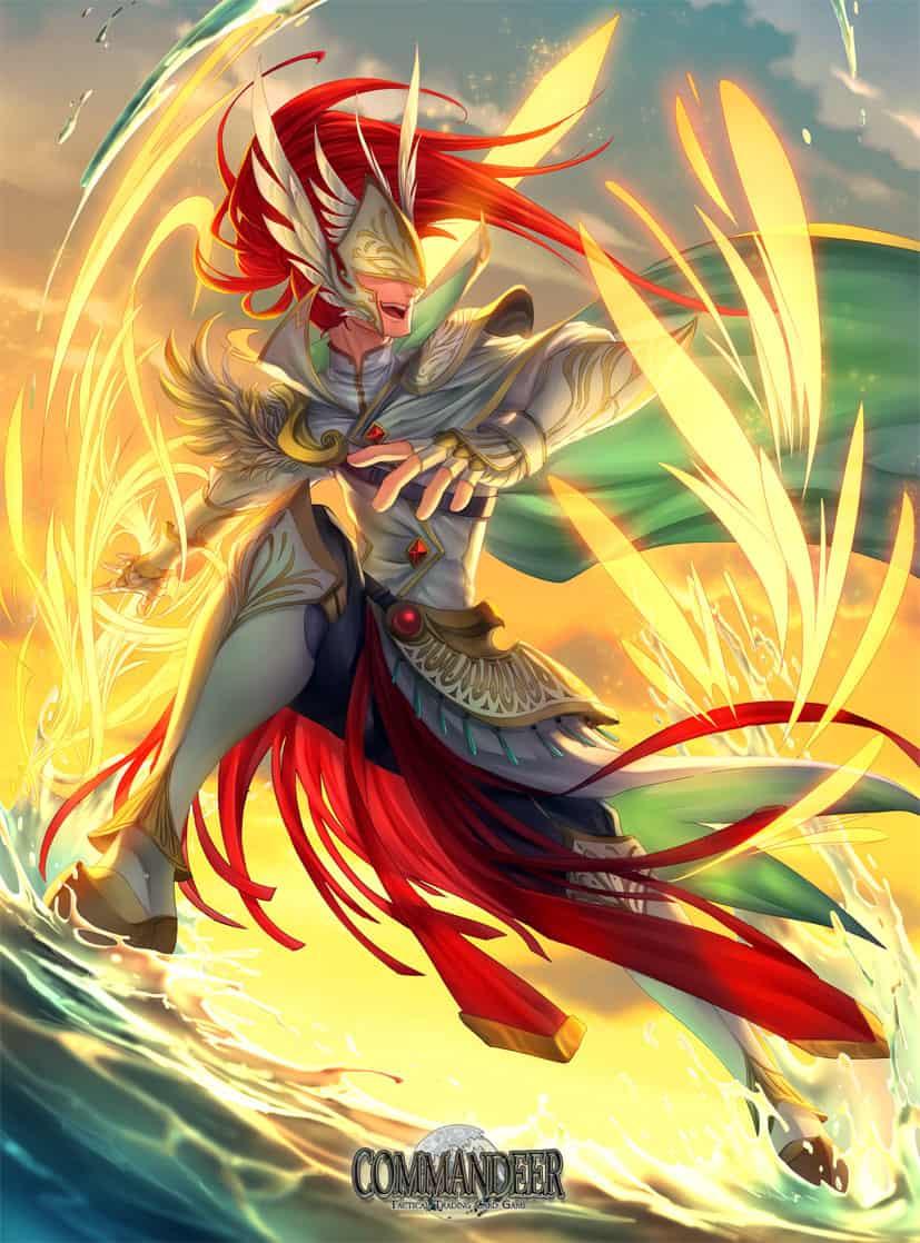 Commandeer card game set 2 Illust of Rusharil fantasy angel card wings illustration cat ARTstreetRanking furry game