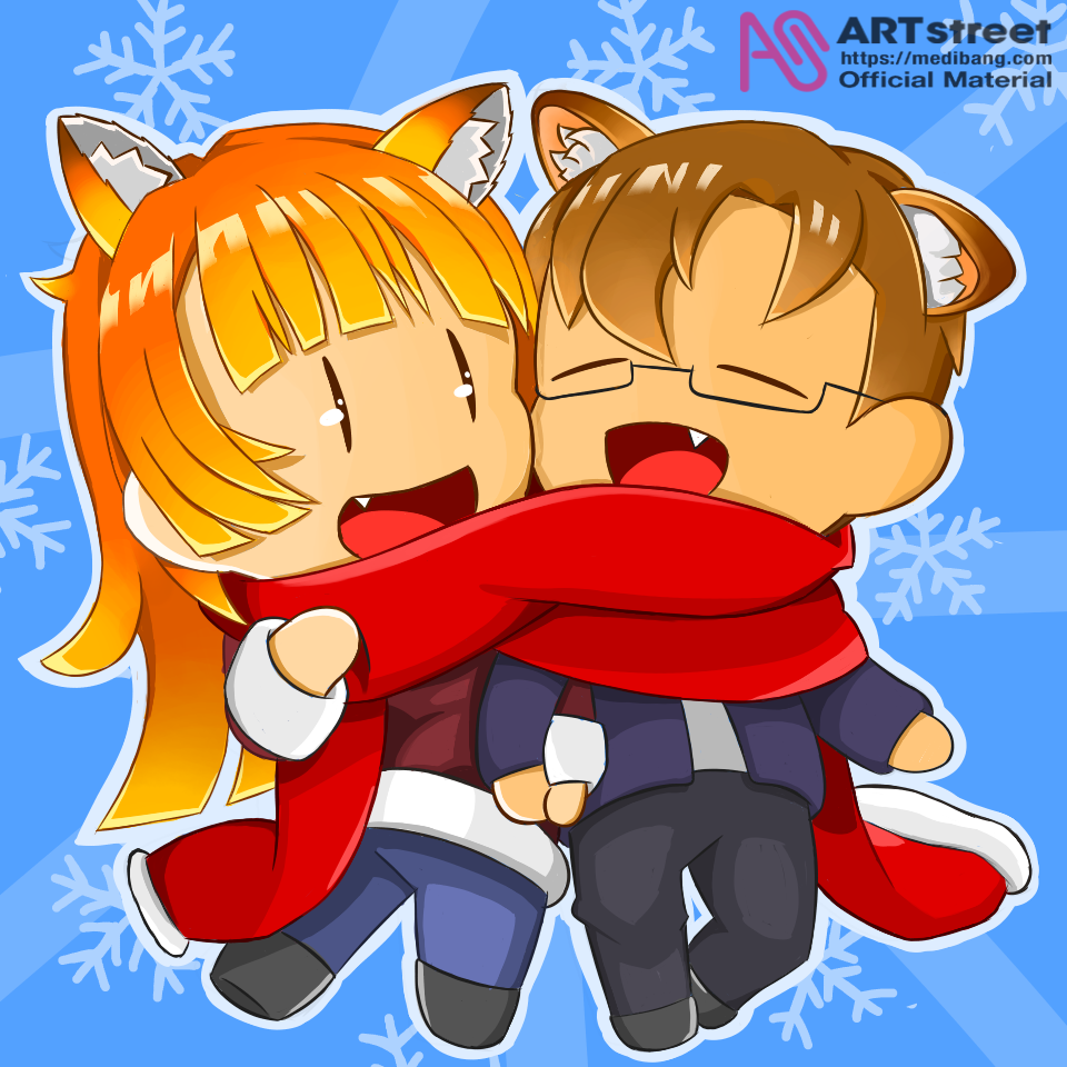 Cozy Winter Illust of ThisIsJv tracedrawing3rd Trace&Draw【Official】 medibangpaint firstpost chibi winter OGcharacter