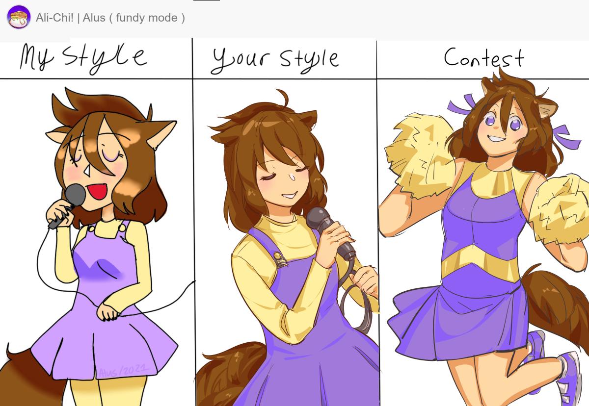 2021 Collab and DTIYS (Alus, Alsacu, Kmy_kpe) Illust of noviden medibangpaint dtiys girl collab contest oc cute MyStyleYourStyle friend color