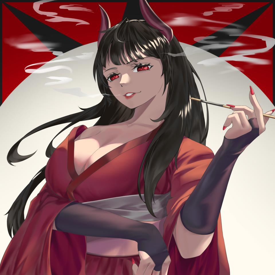 Demon Illust of トミー January2021_Contest:OC oc demon illustration