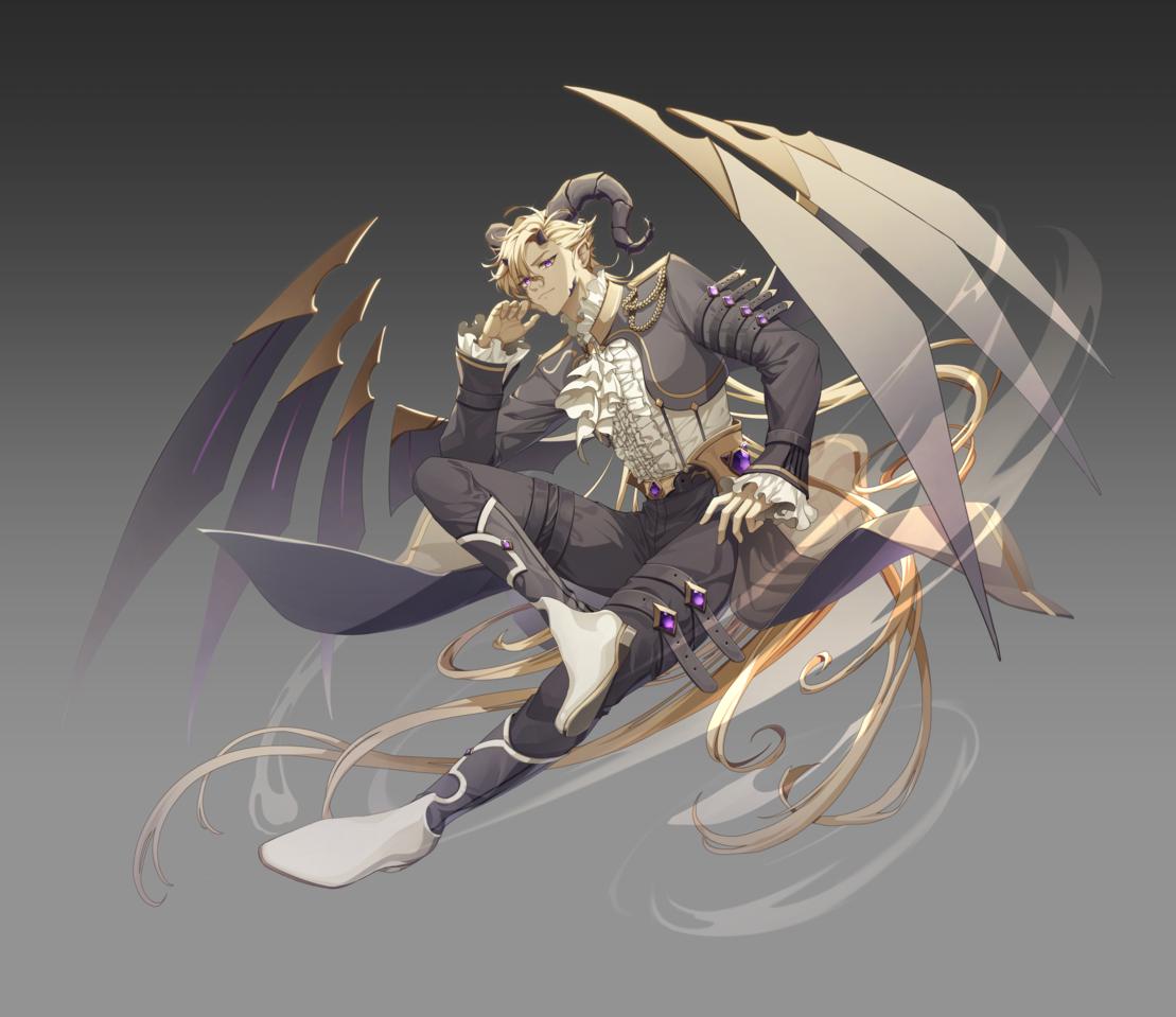 바이올린 악마화 Illust of 렘티 일러스트작가 illustration 게임일러스트레이터