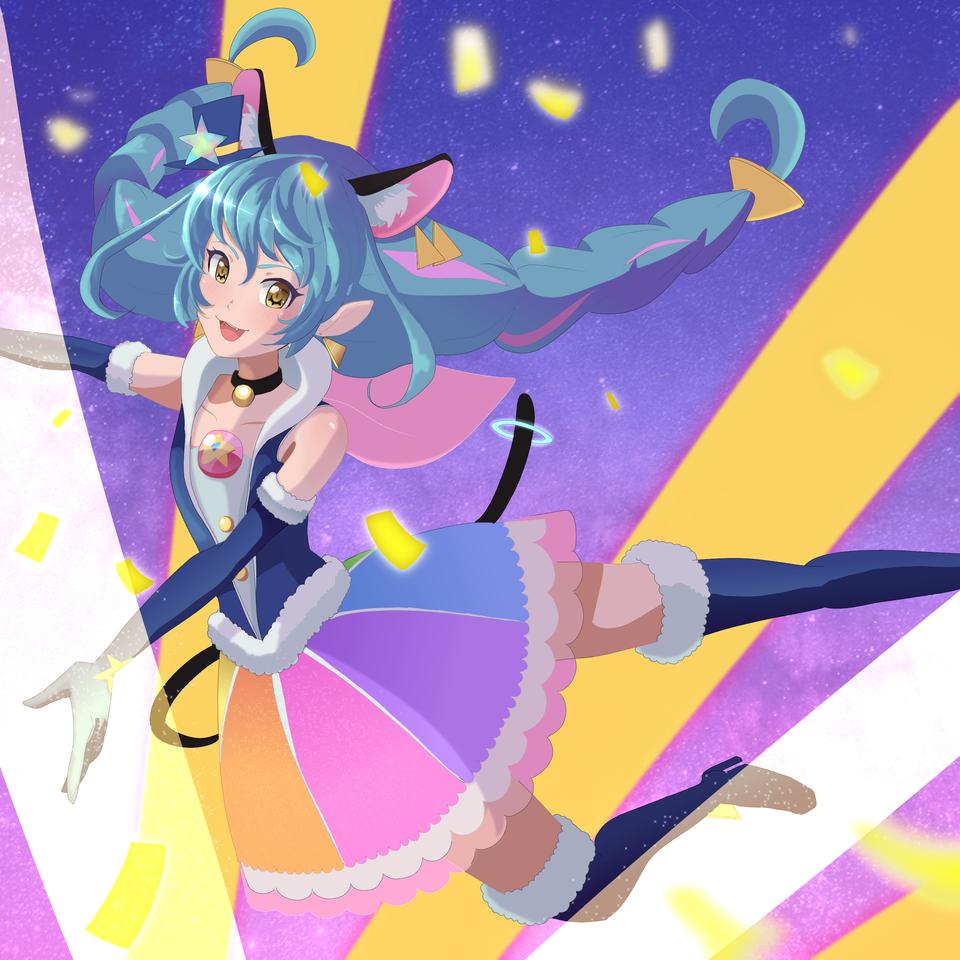 Cure Cosmo in Bang! Dream's artstyle  Illust of gummyshark medibangpaint dress anime BanG_Dream! mahoushoujo CureCosmo Precure