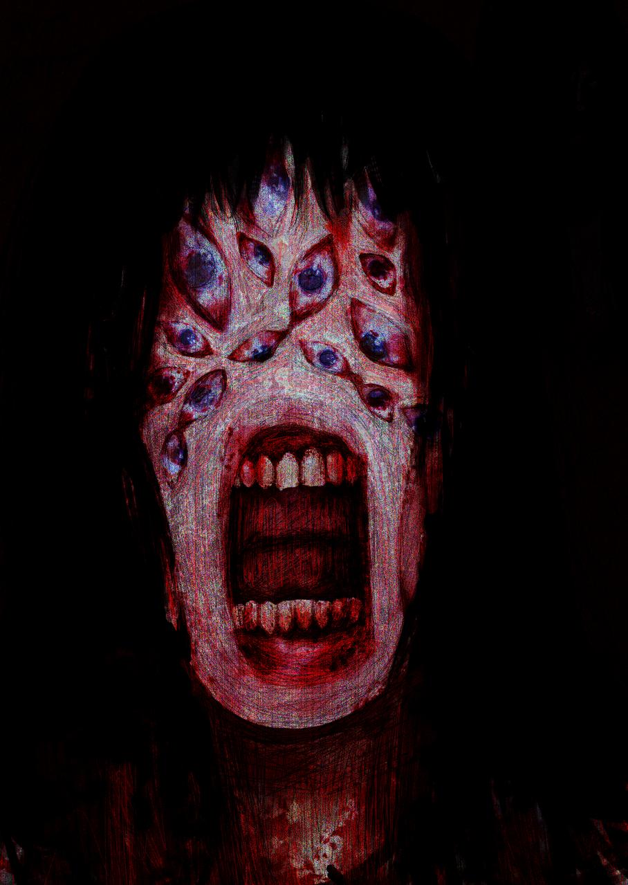 菴輔b繧ー繝ュ繝?せ繧ッ縺倥c縺ェ縺?°繧我ク?闊ャ蜈ャ髢九〒縺?>縺ァ縺吶°? Illust of 97 horror August2020_Contest:Horror