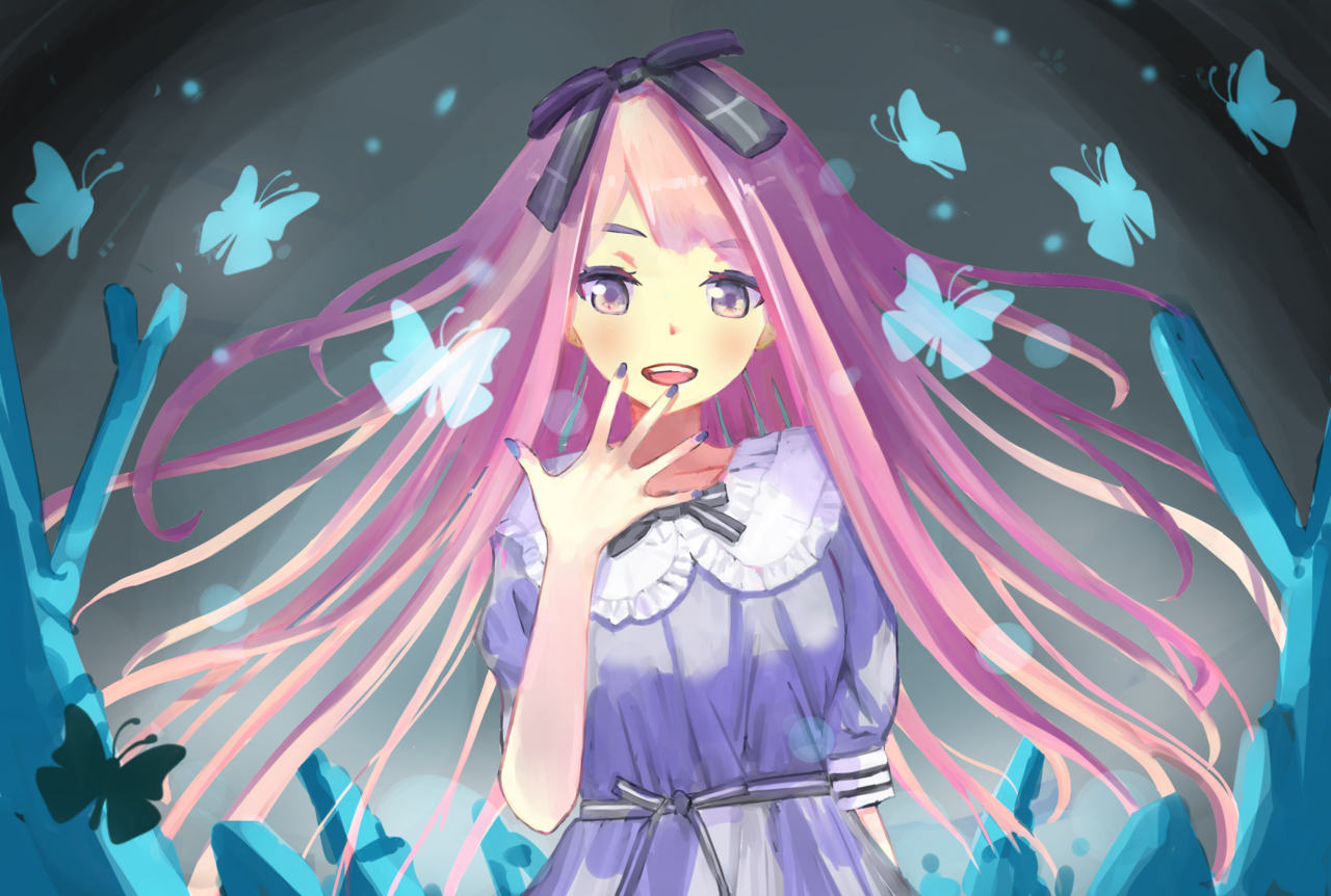光が見えた。 Illust of 千弦 February2021_Fantasy January2021_Contest:OC butterfly girl ribbon oc original animegirl