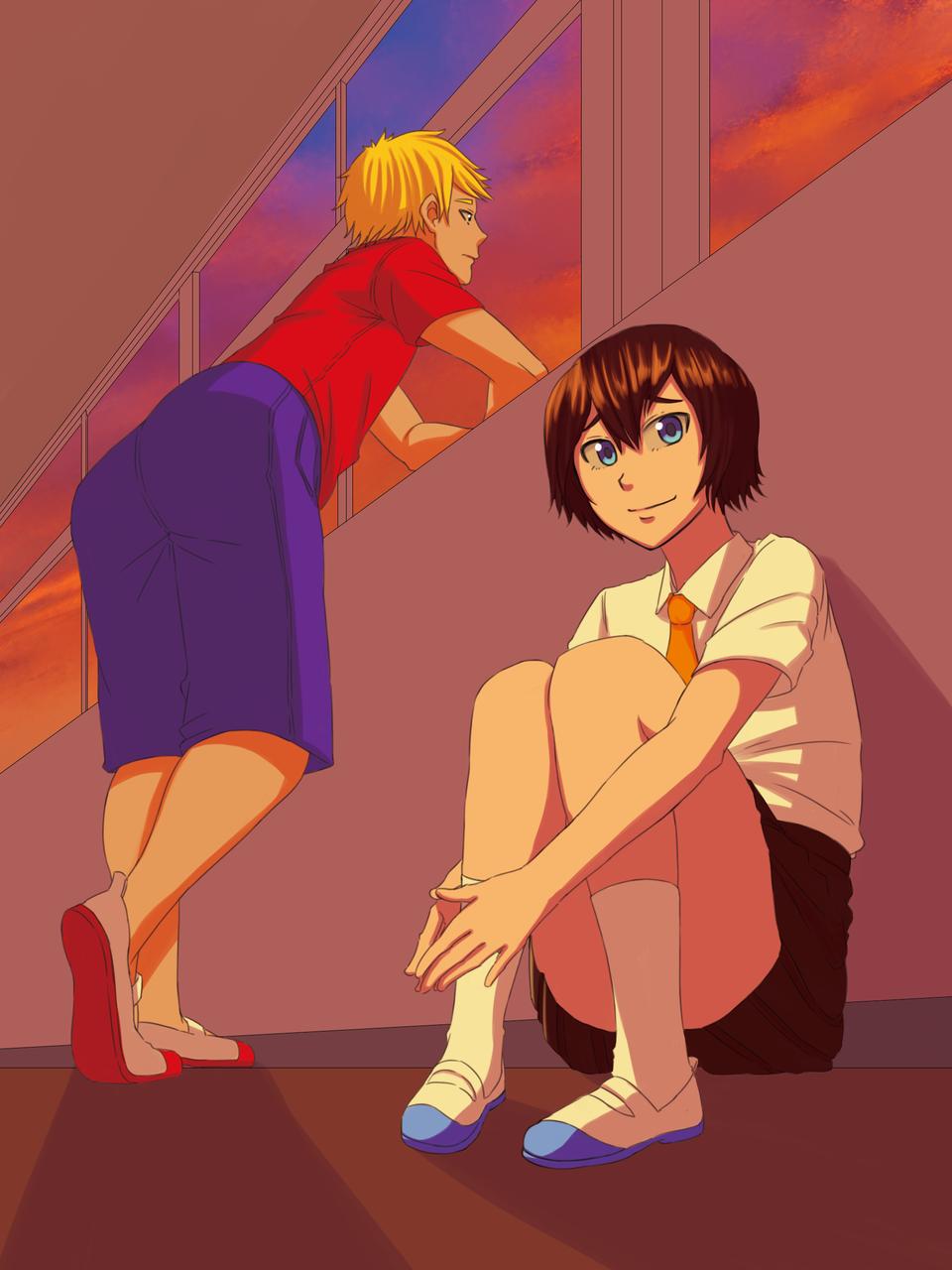 Orange Classroom Illust of Chiizu GOMABOOKS_Contest