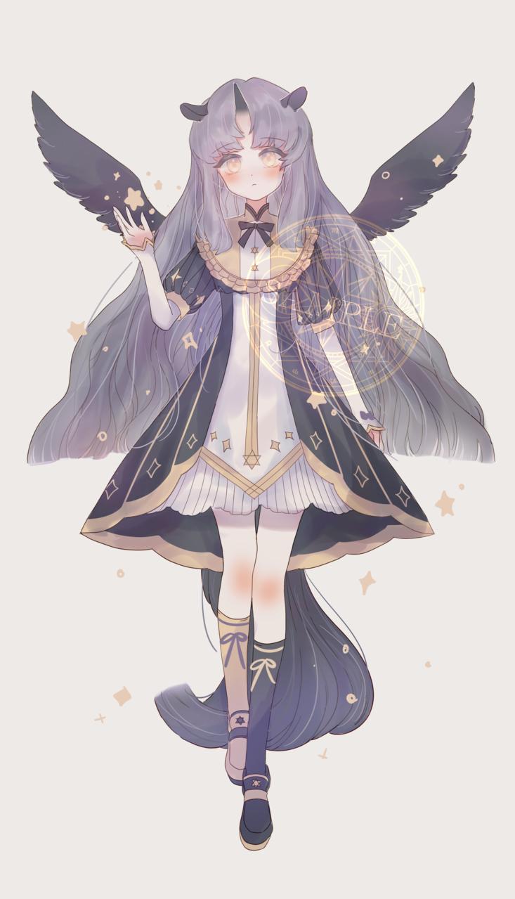 黑独角兽🦄 Illust of mieolala medibangpaint wings