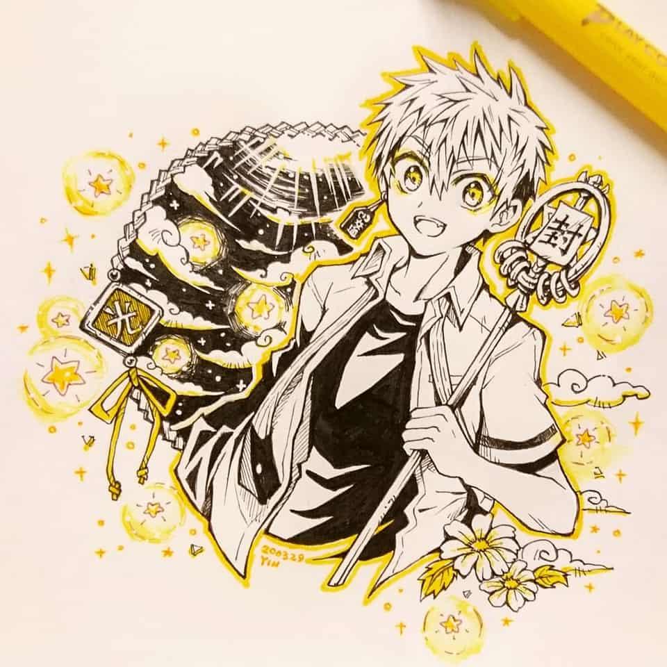 【祓い屋の少年・光】 Illust of yinhidaka 花子くん doodle 源光 handdrawn boy Toilet-boundHanako-kun