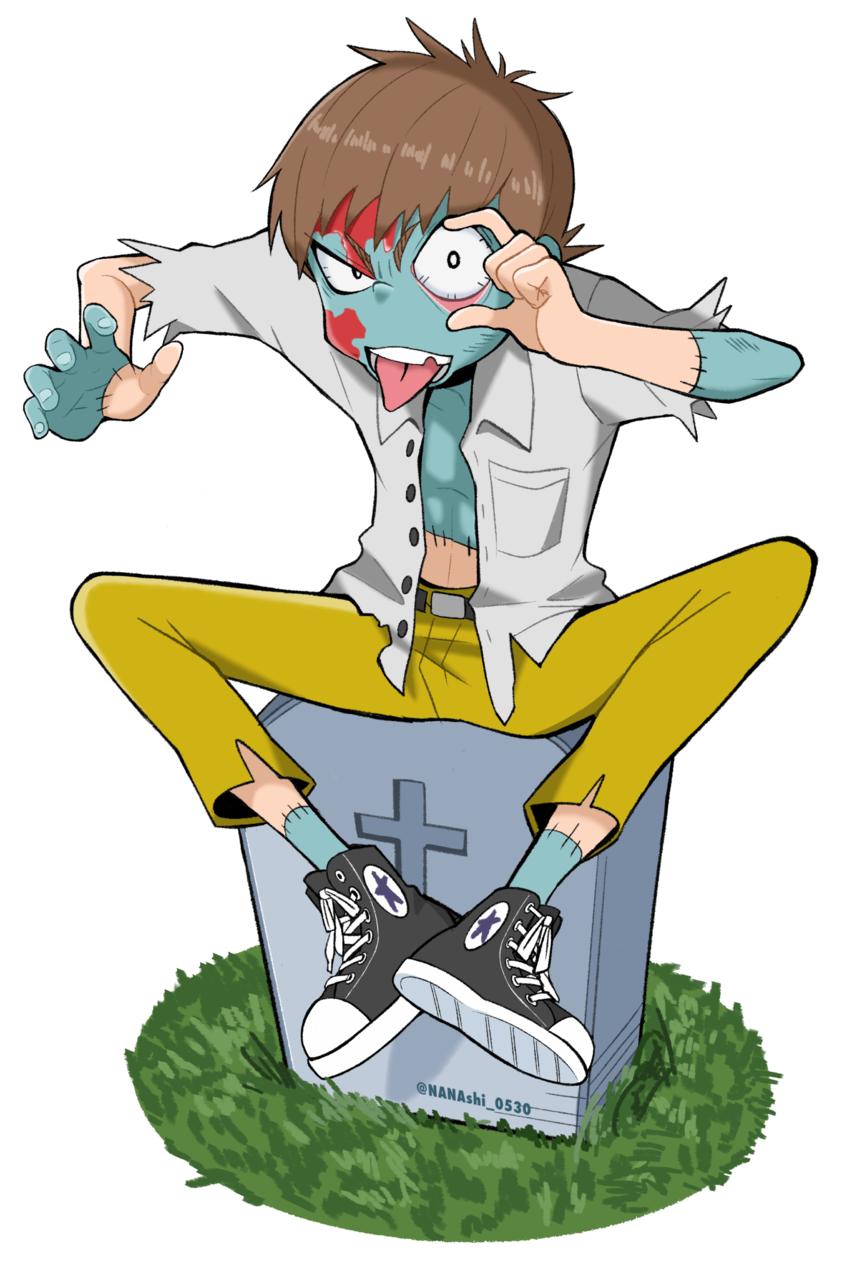 ゾンビくん Illust of シマ January2021_Contest:OC original CLIPSTUDIOPAINT boy illustration zombie