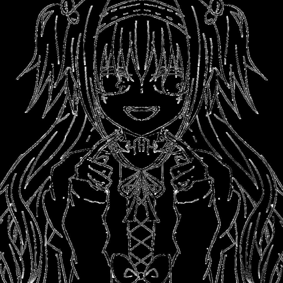 線画 Illust of お茶湯 original girl oc line_art フリー線画