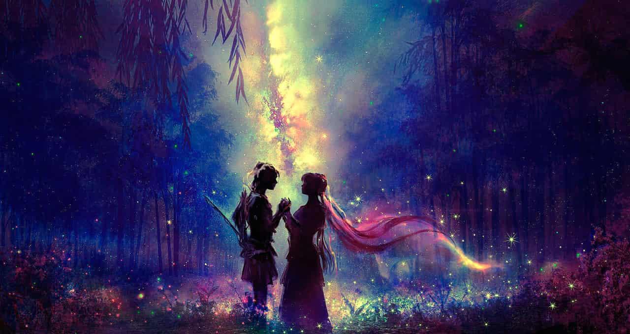 情人節 Illust of 晴夜星子 Feb2020:VDAY starry_sky ValentinesDay
