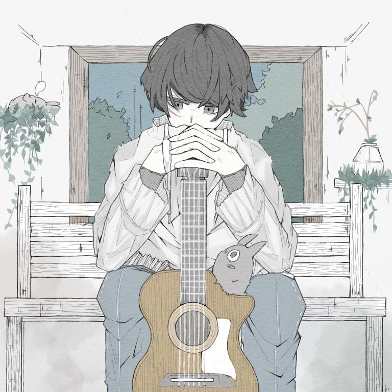 草食系ギター男子 Illust of Miク露 Original_Illustration_Contest Miク露