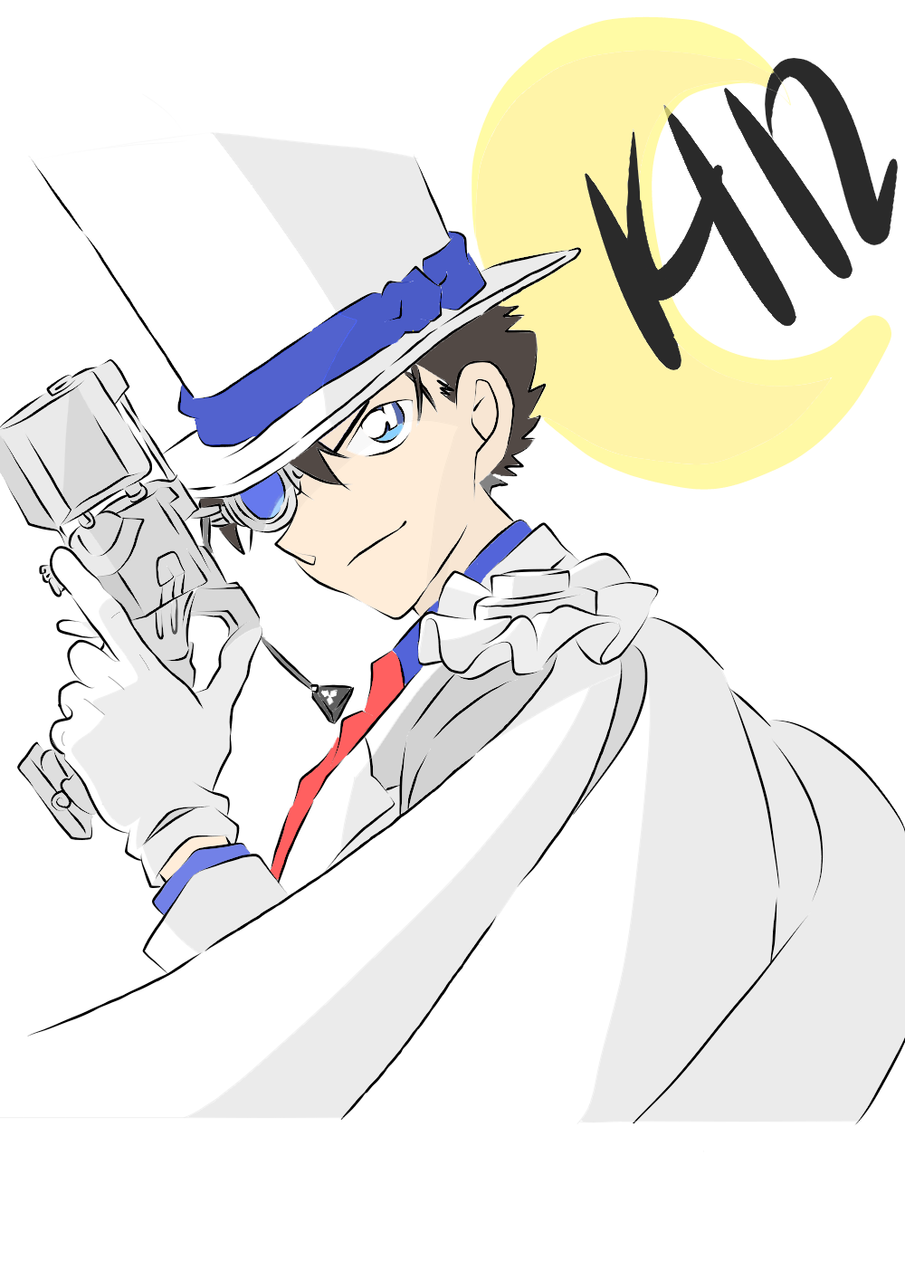 怪盜基德 Kid (彩色) Illust of Ggrraaccee medibangpaint Kid anime くろばかいと 1412 PhantomThiefKid 月下的魔術師 魔術快斗 KaitoKuroba