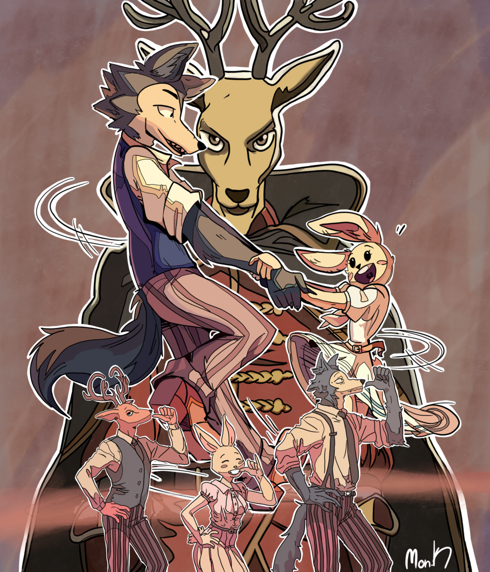 BEASTAR Illust of Mon-K oc color anime BEASTARS furry Netflix