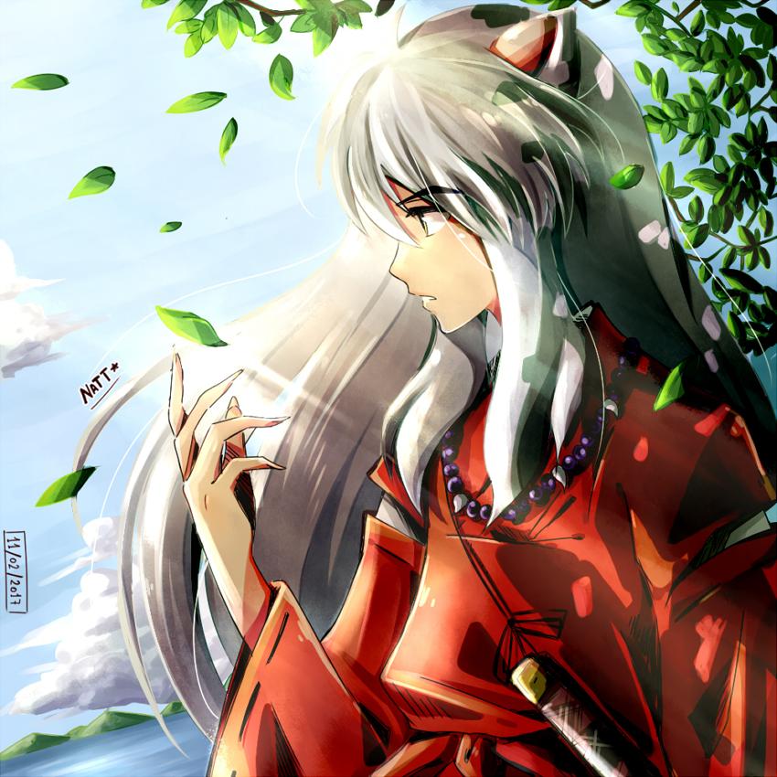 Inuyasha (Fanart) Illust of Natt fanartdigital digital hojas colmillodeacero Inuyasha