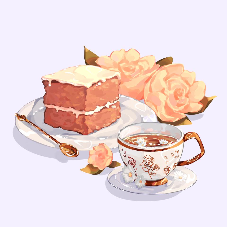 Carrot cake Illust of Mumechi October2020_Contest:Food beautiful
