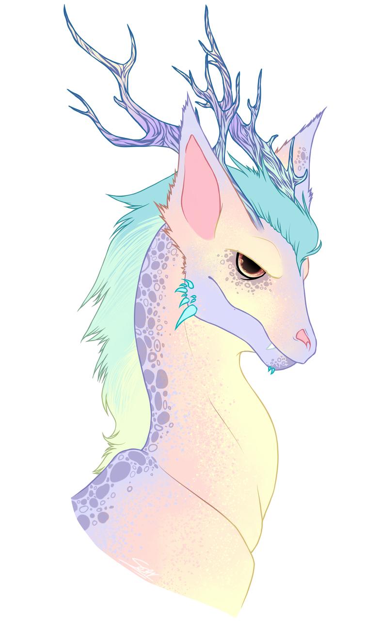 pastel dragon