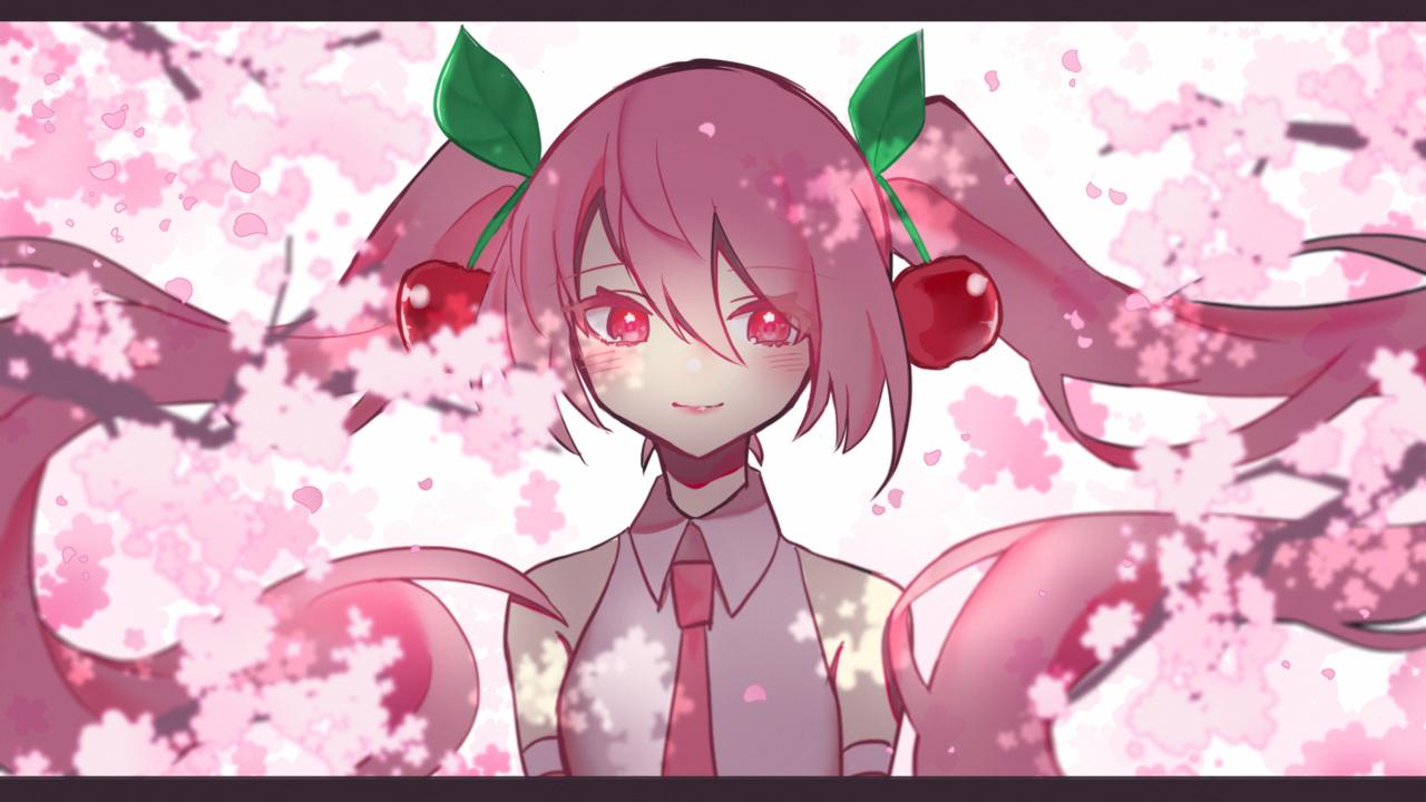 桜ミク Illust of もにた* hatsunemiku VOCALOID