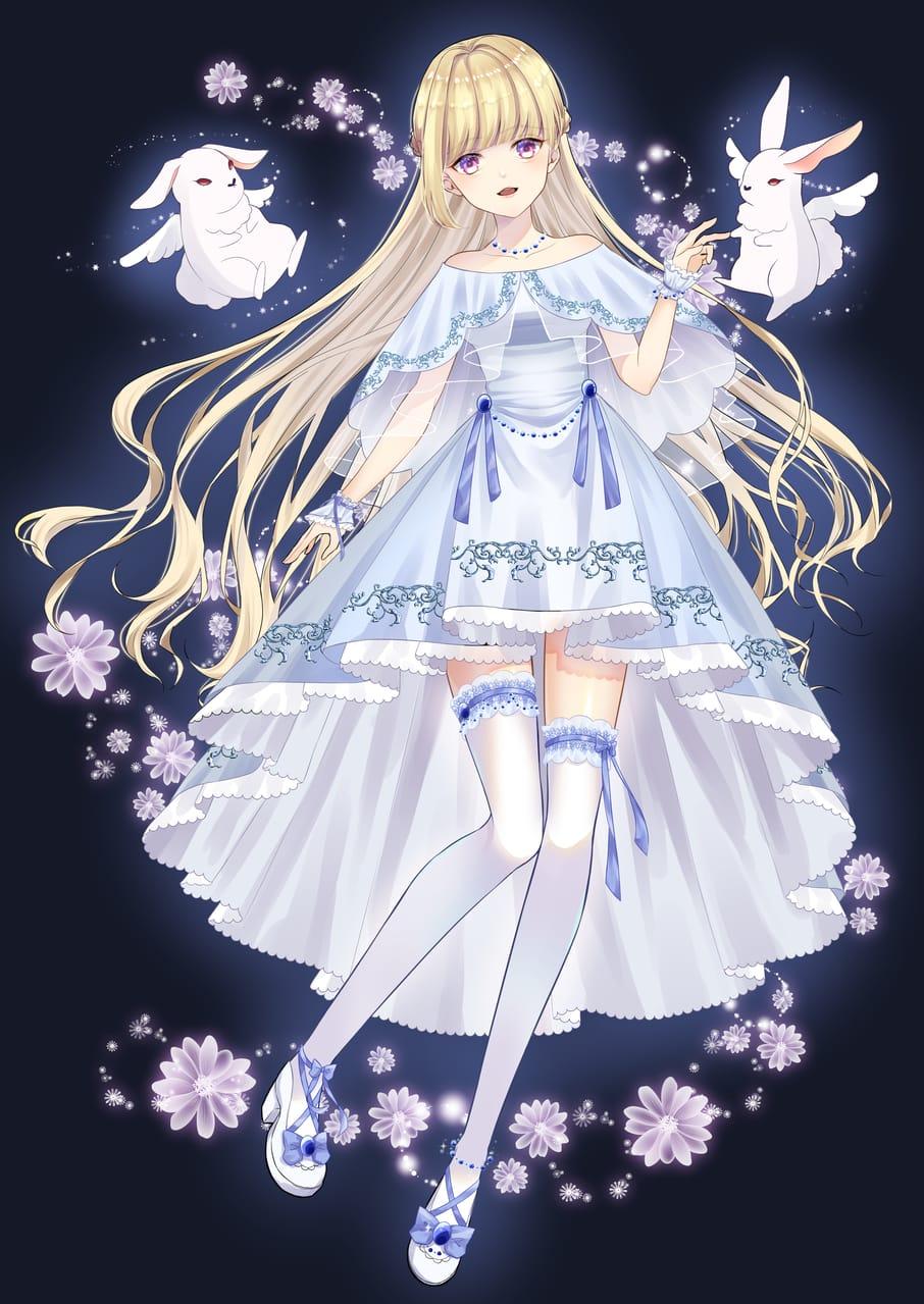 精霊士 Illust of まなみもか fantasy February2021_Fantasy rabbit 精霊 Good blonde girl job oc original