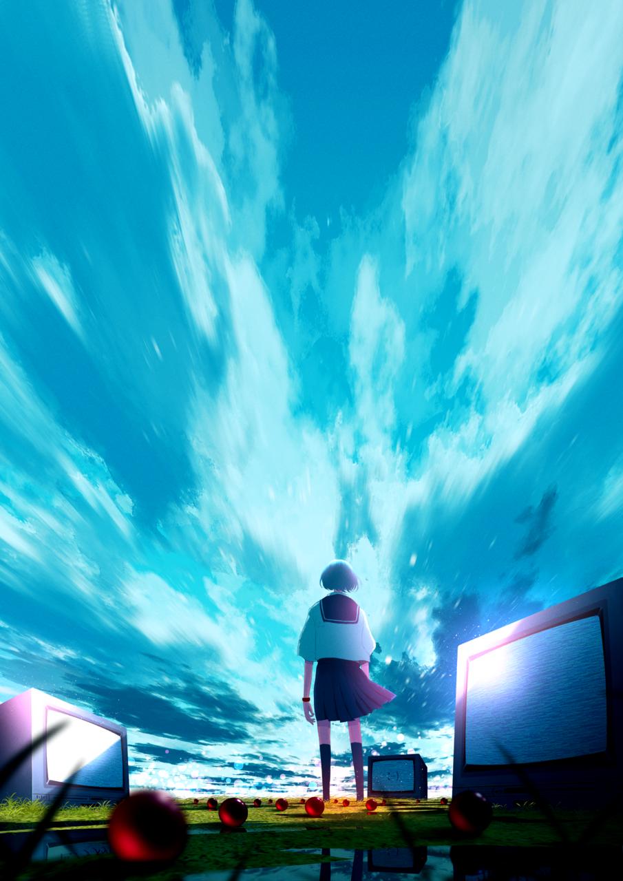 思い出の終着点 Illust of faPka background sky scenery illustration