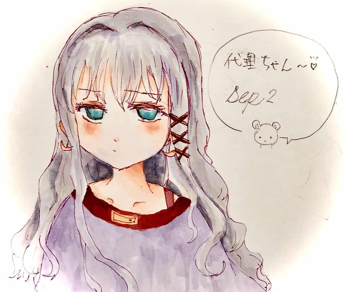 だいりんご🍏 Illust of ねむこ oc illustration 代理 girl medibangpaint character コピックイラスト Copic kawaii おんなのこ original
