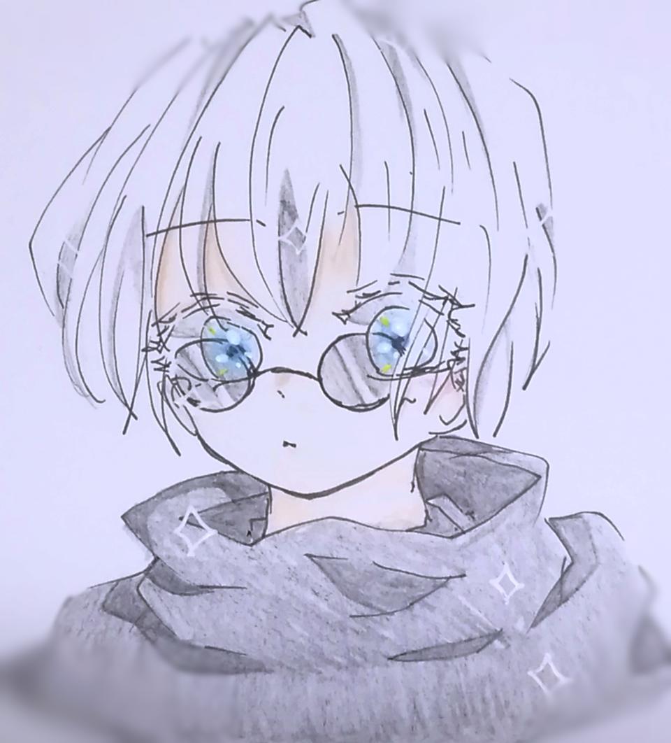 「五条せんせーい!」 Illust of いと JujutsuKaisenFanartContest JujutsuKaisen SatoruGojō coloredpencil アナログ