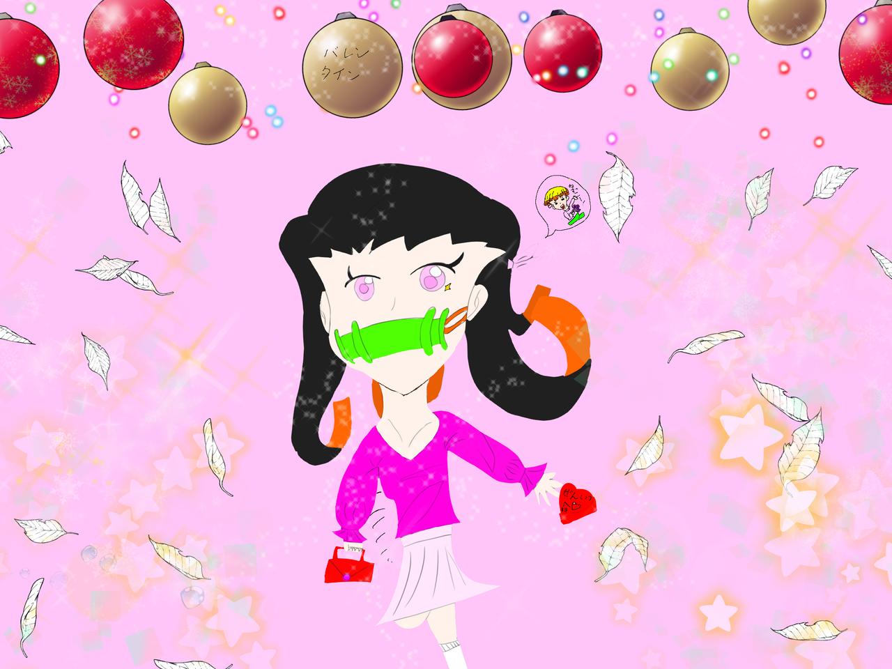 禰󠄀豆子ちゃんのバレンタイン♡♡ Illust of natsu medibangpaint KimetsunoYaiba KamadoNezuko Valentine