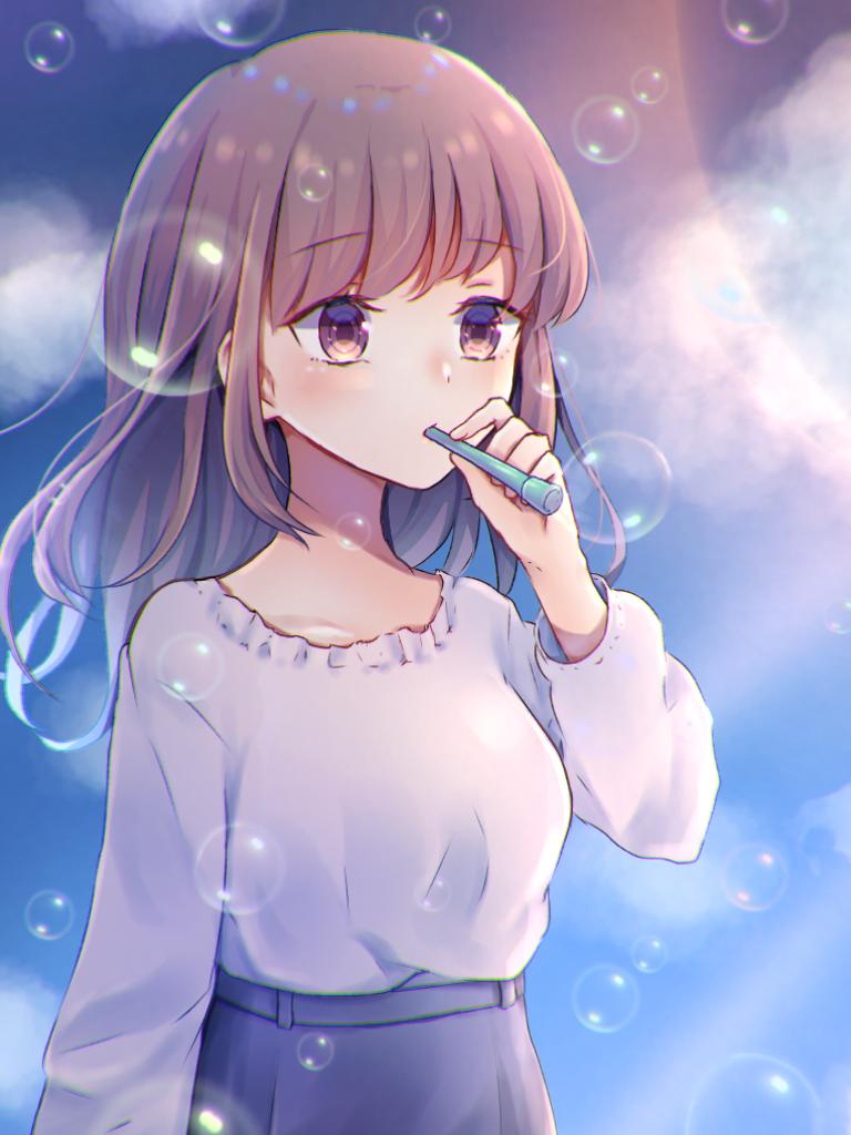 シャボン玉 Illust of ペニーパニー シャボン玉 girl original