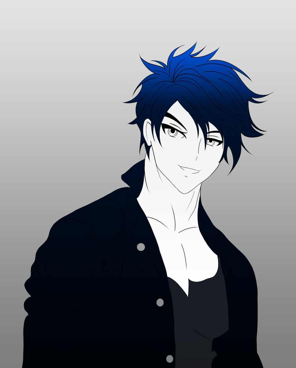 blue boy Illust of brave john ARTstreet_Ranking Original_Illustration_Contest April.2020Contest:Color anime sketch manga line_art man