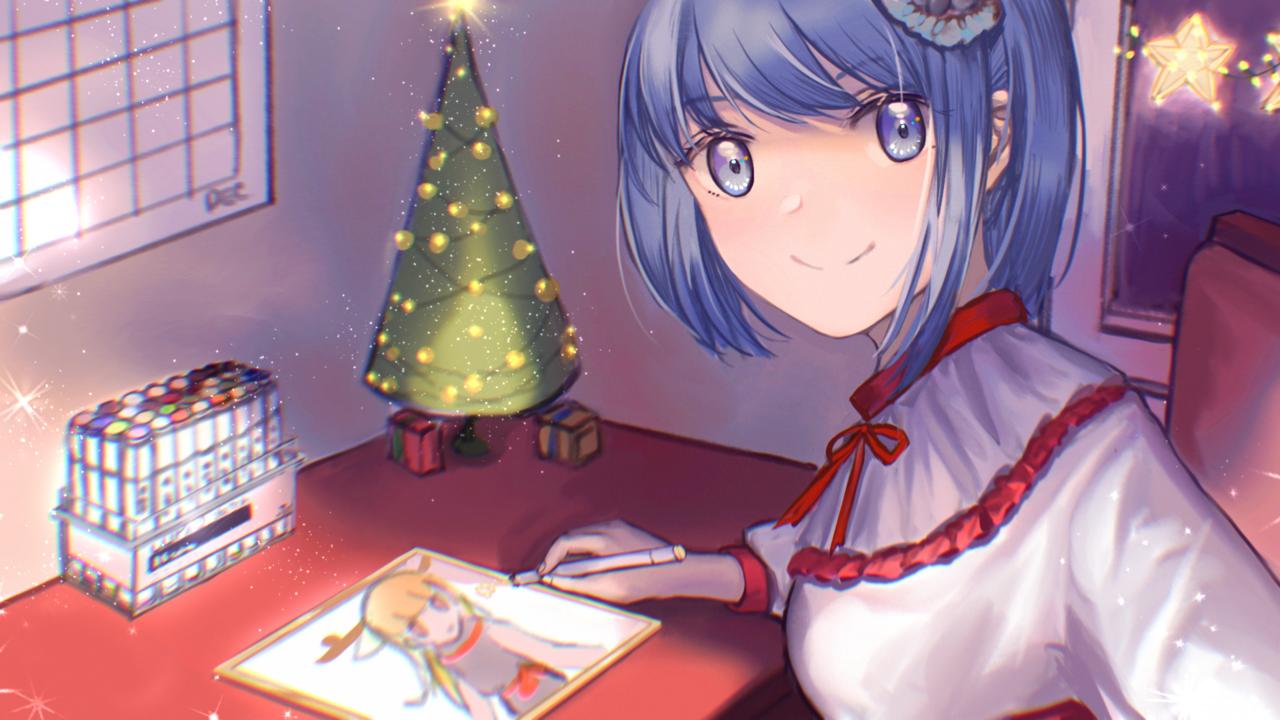 在家画画过圣诞!超想要一盒COPIC马克笔! Illust of Himeka giftyouwant2020 giftyouwant2020:10000YenGift Christmas 自设人物 Copic