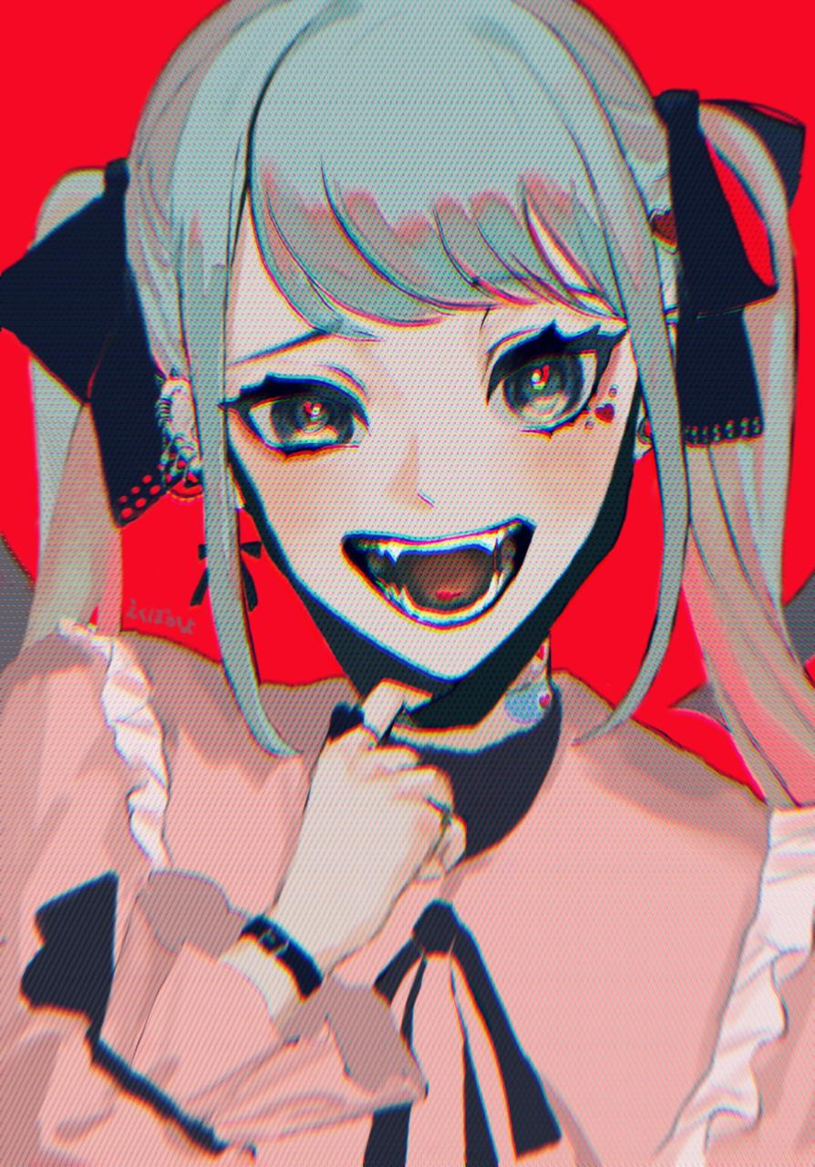 あたしヴァンパイア Illust of えくぼかよ hatsunemiku painting VOCALOID fanart vampire