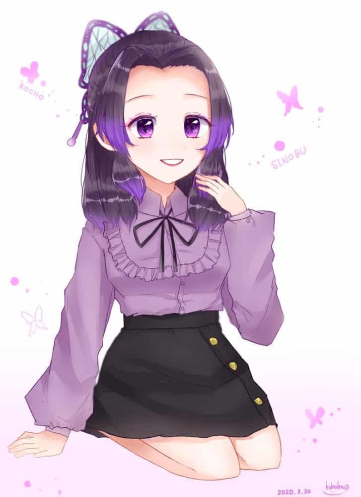 無題 Illust of 碧空こはく。 KimetsunoYaiba girl KochouShinobu illustration