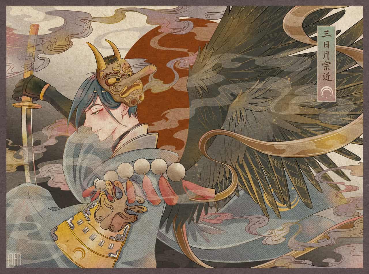Illust of fujita13 三日月宗近 Touken_Ranbu